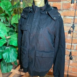 Hurley Coat Jacket Black Camo Smaps Zipper Pockets